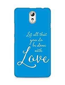 AMEZ let all that you do be done with love Back Cover For Lenovo Vibe P1M