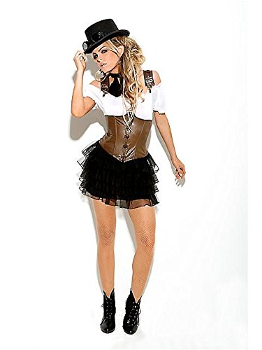Women's Sexy Racy Steampunk Rose Costume