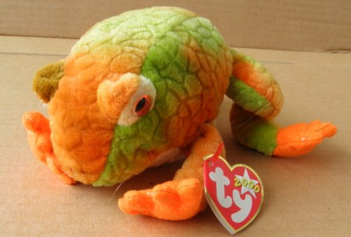 TY Beanie Babies Prince the Frog Stuffed Animal Plush Toy - 7 inches long