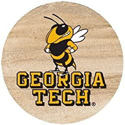 Thirstystone Natural Sandstone Set of 4 Coasters Georgia Tech