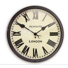 Large Dial Station Wall Clock by Newgate - Black 50cm
