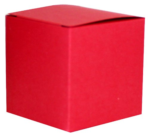 Pearlised Red Gift Box 75 x 75 x75mm (3