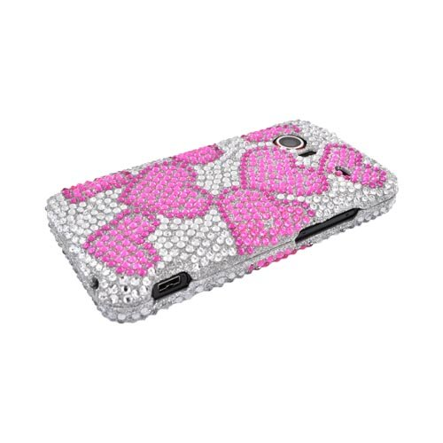 For HTC Droid incredible Bling Hard Case PINK Hearts