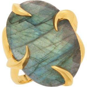 Missoma Labradorite Cocktail Ring: Size 7