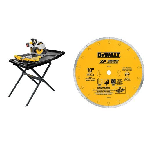 Buy Cheap DEWALT D24000S Heavy-Duty 10-inch Wet Tile Saw with Stand  with 10-Inch by .060-Inch Premi...