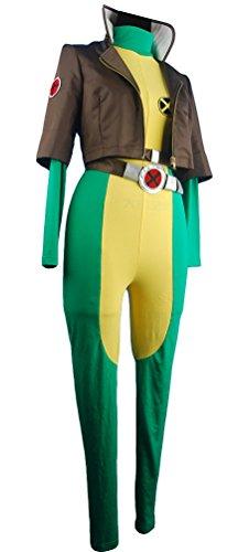 XYZcos Women's X-men Cosplay Costume Rogue Superhero Marie Jumpsuit Size M (Katniss Everdeen Halloween Costumes)