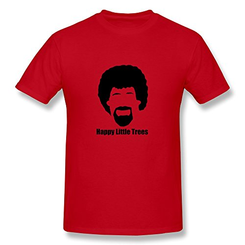 Hd-Print Men'S T Shirt Happy Little Trees Xxl Red