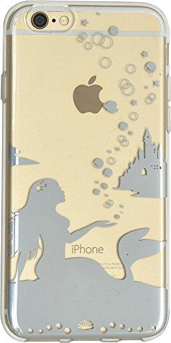 PLATA iPhone6 iPhone6s 4.7インチ 用 リンゴマーク アート ケース ファンシー シルエット タイプ iPhone 6 6s 【 人魚姫 】 IP6-6123-07