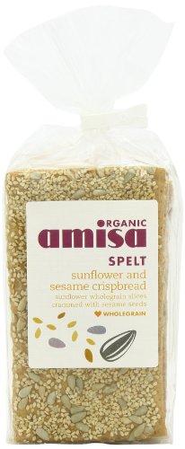 Amisa Organic Spelt Sesame Sunflower Crispbread