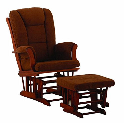 Cognac And Chocolate Stork Craft Tuscany Glider Rocking Chair And Ottoman Baby Gift Idea front-170654
