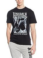 Lonsdale Camiseta Manga Corta Newtown (Negro)