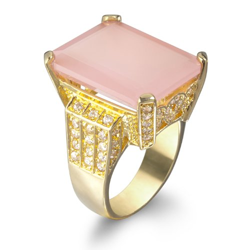 Classic Pink Chalcedony Bold Ring