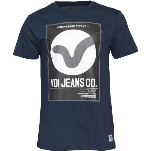 "Herren Voi Jeans Dunster T-Shirt Navy Jungs Männchen (L To Fit Chest 38-40"" Euro Large)"