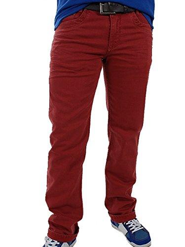 MAC Herren Jeans 0973 Arne 08-Stretch, 36/34, rot