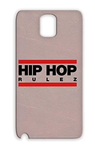 Durable Red Hiphop Rulez F2 For Sumsang Galaxy Note 3 Mic Music Talent Real Bling Regulate Vinyl Record Music Old School Scratching Headphones Dj Graffiti Rap Bold Breakdance Freestyle Mc Battle Hip Hop Beat Protective Hard Case