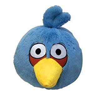 Commonwealth - Angry Birds - Blauer Angry Bird Plüsch - ca. 15 cm