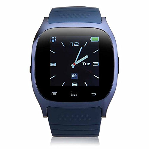Padgene Bluetooth Smart Watch for Samsung Galaxy S4 / S5 / Note 4, Sony, Nokia, HTC, Huawei, LG, and other Android SmartPhones, Indigo