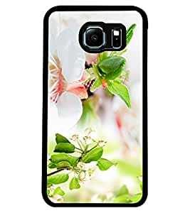 ColourCraft Flowers Design Back Case Cover for SAMSUNG GALAXY S6 EDGE