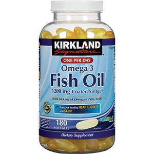 Cos 15 kirkland signature fish oil 1200mg for Fish oil for cooking