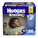 Huggies Overnites Diapers, Big Pack, Size 4, 22-37 lbs, 56 ea 1 ea