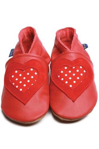 Inch Blue Inch Blue Love Polka Dot Shoe - Polka Dot Red - Small 0-6m