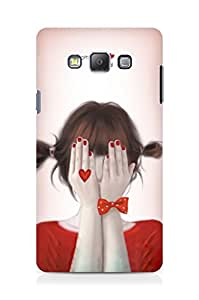 Amez designer printed 3d premium high quality back case cover for Samsung Galaxy A7 (Cute Girl)