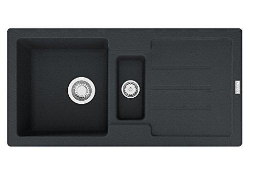 Franke Strata STG 651-86 Einbau-Spüle Fragranit Onyx Siebkorb- Excenterventil