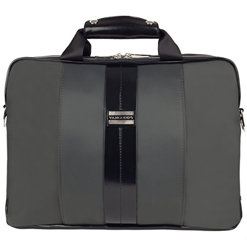Click to buy VanGoddy Gray Laptop Messenger Bag for Fujitsu Lifebook / Stylistic - From only $39.99