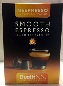 Find Dualit NX Smooth Espresso Café Coffee Capsules (Pack of 10) from Dualit NX
