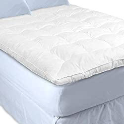 White Goose Feather and Down Baffle Box Featherbed