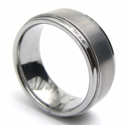 Mens Tungsten Wedding Band Ring - 8mm Size 10 style #3