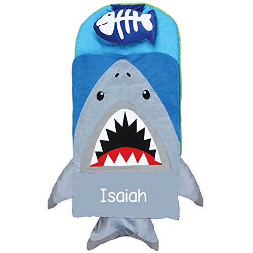 Personalized Stephen Joseph Shark Nap Mat with Embroidered Name (Shark Sleeping Bag Pillow compare prices)