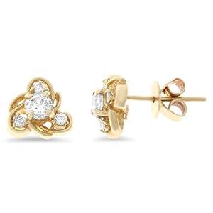 0.45CTW 14K Yellow Gold Genuine Natural Diamond Stud Earrings