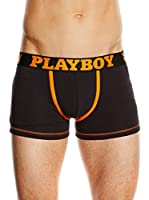Playboy Pack x 2 Bóxers Rabbit Playboy (Negro / Naranja)