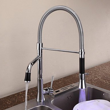 contemporary-chrome-one-hole-single-handle-pullout-spray-deck-mounted-kitchen-faucet-with-color-chan