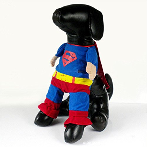 [Dog Coat Iron Man Pet Jacket Puppy Cat Costumes Clothes Apparel Gift (4)] (Iron Man Cat Costume)