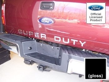 Ford SUPER DUTY Letter Inserts (thin) for Tailgate Black Gloss - CB (2008-2016) F250 F350 F450 Decals Stickers (2010 Ford F250 Tailgate compare prices)
