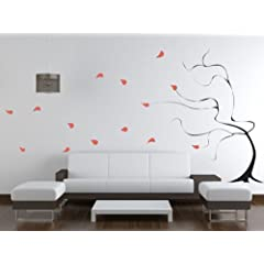 Trading Phrases Windy Tree Giant Wall Decals 64 x 72