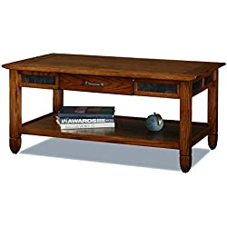 Slatestone  Oak Storage Coffee Table - Rustic Oak Finish