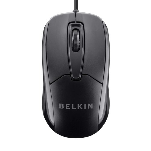 Belkin 3-Button Wired USB Optical Mouse with 5-Foot Cord, Compatible with PCs, Macs, Desktops and Laptops (Amazon Wired Mouse compare prices)