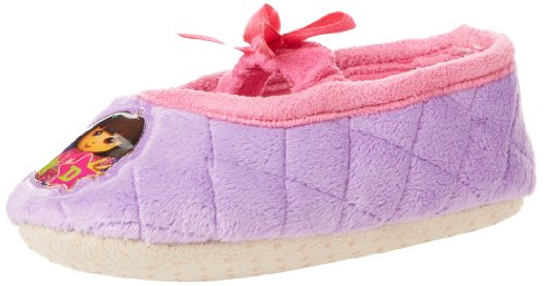 Nickelodeon Dora The Explorer Mj W Bow Slipper (Toddler),Purple,9-10 M Us Toddler