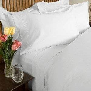 Solid White Percale California King Size Sheet Set 100 % Cotton (Deep Pocket) 300 Thread count By Sheetsnthings (King Size Waterbed Sheet Sets compare prices)