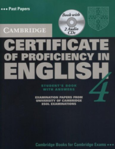 Cambridge Certificate of Proficiency in English 4 Self Study Pack (CPE Practice Tests)