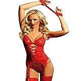 Rouge sexy lingerie de dentelle mis en vêtements Sous GRATUIT G -string + BRACELET...