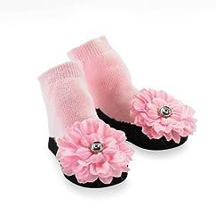 Mud Pie Baby-Girls Newborn Baby Buds Socks, Pink, 0-12 Months