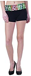Comfty Women's Cotton Shorts (AA-SH-0007-X-Large, Black, X-Large)