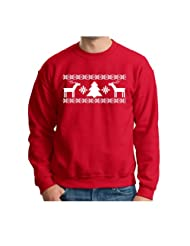Christmas Immitation Sweatshirt Evergreen Snowflake