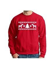 Christmas Immitation Sweatshirt Evergreen Snowflake