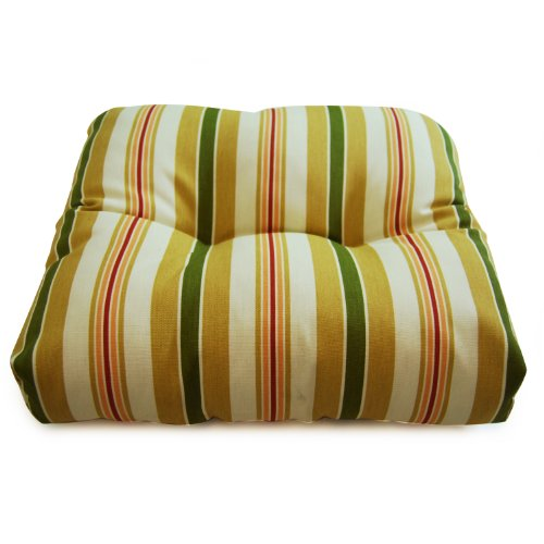 Wicker Seat Cushion- Alex Stripe Gold picture