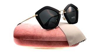 Miu Miu 1AB1A1 Black 06OS Noir Cats Eyes Sunglasses Lens Category 3